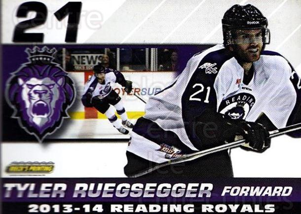 2013-14 Reading Royals #20 Tyler Ruegsegger<br/>2 In Stock - $3.00 each - <a href=https://centericecollectibles.foxycart.com/cart?name=2013-14%20Reading%20Royals%20%2320%20Tyler%20Ruegsegge...&price=$3.00&code=696268 class=foxycart> Buy it now! </a>