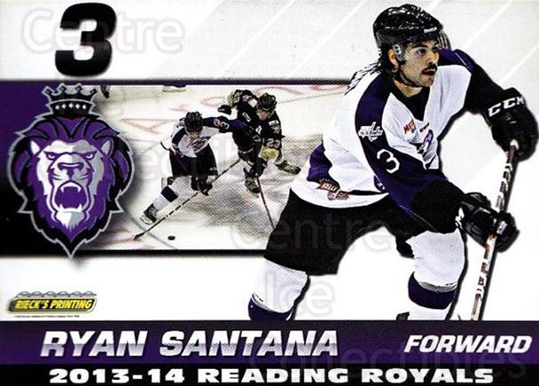 2013-14 Reading Royals #21 Ryan Santana<br/>1 In Stock - $3.00 each - <a href=https://centericecollectibles.foxycart.com/cart?name=2013-14%20Reading%20Royals%20%2321%20Ryan%20Santana...&quantity_max=1&price=$3.00&code=696269 class=foxycart> Buy it now! </a>