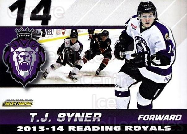 2013-14 Reading Royals #22 TJ Syner<br/>1 In Stock - $3.00 each - <a href=https://centericecollectibles.foxycart.com/cart?name=2013-14%20Reading%20Royals%20%2322%20TJ%20Syner...&price=$3.00&code=696270 class=foxycart> Buy it now! </a>