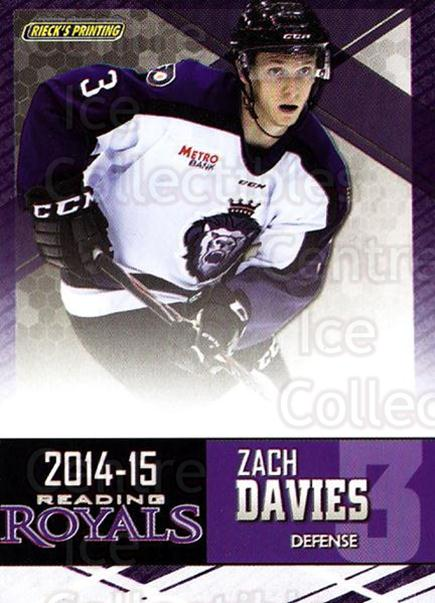 2014-15 Reading Royals #6 Zach Davies<br/>2 In Stock - $3.00 each - <a href=https://centericecollectibles.foxycart.com/cart?name=2014-15%20Reading%20Royals%20%236%20Zach%20Davies...&price=$3.00&code=696284 class=foxycart> Buy it now! </a>