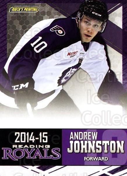 2014-15 Reading Royals #11 Andrew Johnston<br/>2 In Stock - $3.00 each - <a href=https://centericecollectibles.foxycart.com/cart?name=2014-15%20Reading%20Royals%20%2311%20Andrew%20Johnston...&price=$3.00&code=696289 class=foxycart> Buy it now! </a>