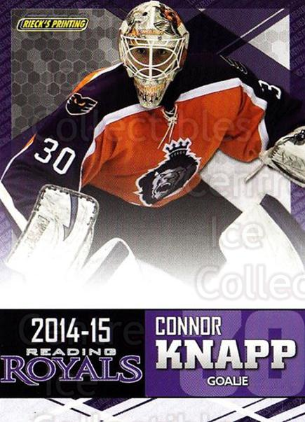 2014-15 Reading Royals #12 Connor Knapp<br/>2 In Stock - $3.00 each - <a href=https://centericecollectibles.foxycart.com/cart?name=2014-15%20Reading%20Royals%20%2312%20Connor%20Knapp...&price=$3.00&code=696290 class=foxycart> Buy it now! </a>