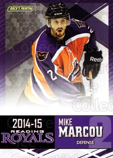 2014-15 Reading Royals #15 Mike Marcou<br/>2 In Stock - $3.00 each - <a href=https://centericecollectibles.foxycart.com/cart?name=2014-15%20Reading%20Royals%20%2315%20Mike%20Marcou...&price=$3.00&code=696293 class=foxycart> Buy it now! </a>