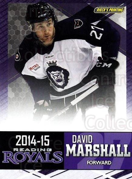 2014-15 Reading Royals #16 David Marshall<br/>2 In Stock - $3.00 each - <a href=https://centericecollectibles.foxycart.com/cart?name=2014-15%20Reading%20Royals%20%2316%20David%20Marshall...&price=$3.00&code=696294 class=foxycart> Buy it now! </a>