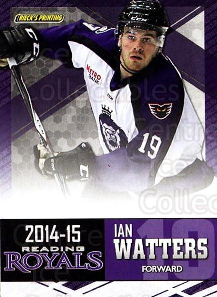 2014-15 Reading Royals #23 Ian Watters<br/>2 In Stock - $3.00 each - <a href=https://centericecollectibles.foxycart.com/cart?name=2014-15%20Reading%20Royals%20%2323%20Ian%20Watters...&price=$3.00&code=696301 class=foxycart> Buy it now! </a>