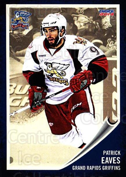 2013-14 Grand Rapids Griffins #3 Patrick Eaves<br/>1 In Stock - $3.00 each - <a href=https://centericecollectibles.foxycart.com/cart?name=2013-14%20Grand%20Rapids%20Griffins%20%233%20Patrick%20Eaves...&price=$3.00&code=696308 class=foxycart> Buy it now! </a>