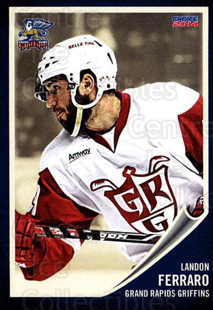2013-14 Grand Rapids Griffins #6 Landon Ferraro<br/>2 In Stock - $3.00 each - <a href=https://centericecollectibles.foxycart.com/cart?name=2013-14%20Grand%20Rapids%20Griffins%20%236%20Landon%20Ferraro...&price=$3.00&code=696311 class=foxycart> Buy it now! </a>