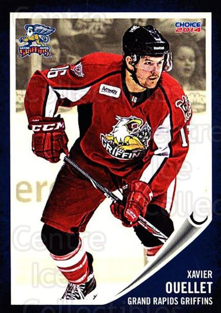 2013-14 Grand Rapids Griffins #20 Xavier Ouellet<br/>1 In Stock - $3.00 each - <a href=https://centericecollectibles.foxycart.com/cart?name=2013-14%20Grand%20Rapids%20Griffins%20%2320%20Xavier%20Ouellet...&price=$3.00&code=696325 class=foxycart> Buy it now! </a>