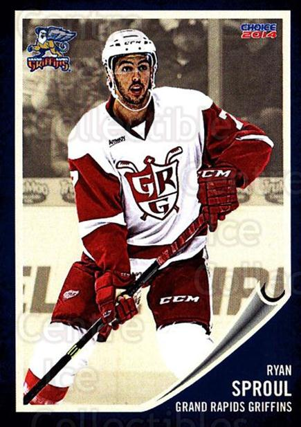 2013-14 Grand Rapids Griffins #24 Ryan Sproul<br/>2 In Stock - $3.00 each - <a href=https://centericecollectibles.foxycart.com/cart?name=2013-14%20Grand%20Rapids%20Griffins%20%2324%20Ryan%20Sproul...&price=$3.00&code=696329 class=foxycart> Buy it now! </a>
