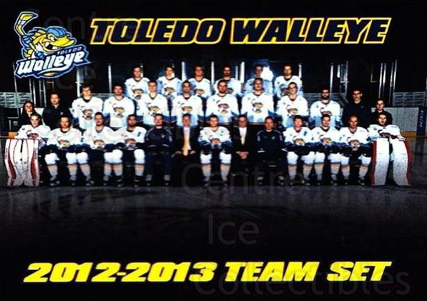 2012-13 Toledo Walleye #26 Team Photo, Checklist<br/>3 In Stock - $3.00 each - <a href=https://centericecollectibles.foxycart.com/cart?name=2012-13%20Toledo%20Walleye%20%2326%20Team%20Photo,%20Che...&quantity_max=3&price=$3.00&code=696356 class=foxycart> Buy it now! </a>