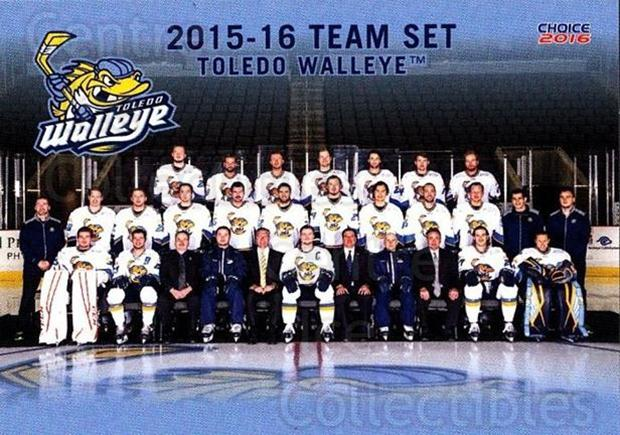 2015-16 Toledo Walleye #24 Team Photo, Checklist<br/>3 In Stock - $3.00 each - <a href=https://centericecollectibles.foxycart.com/cart?name=2015-16%20Toledo%20Walleye%20%2324%20Team%20Photo,%20Che...&quantity_max=3&price=$3.00&code=696404 class=foxycart> Buy it now! </a>