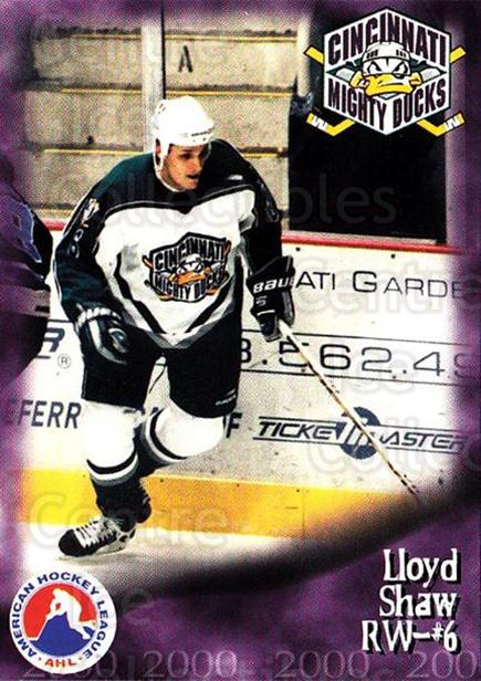 1999-00 Cincinnati Mighty Ducks #6 Lloyd Shaw<br/>1 In Stock - $3.00 each - <a href=https://centericecollectibles.foxycart.com/cart?name=1999-00%20Cincinnati%20Mighty%20Ducks%20%236%20Lloyd%20Shaw...&quantity_max=1&price=$3.00&code=696434 class=foxycart> Buy it now! </a>
