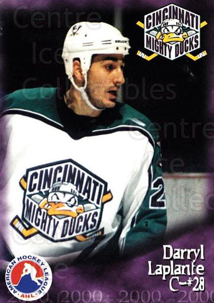 1999-00 Cincinnati Mighty Ducks #14 Darryl Laplante<br/>1 In Stock - $3.00 each - <a href=https://centericecollectibles.foxycart.com/cart?name=1999-00%20Cincinnati%20Mighty%20Ducks%20%2314%20Darryl%20Laplante...&quantity_max=1&price=$3.00&code=696442 class=foxycart> Buy it now! </a>