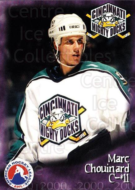 1999-00 Cincinnati Mighty Ducks #26 Marc Chouinard<br/>1 In Stock - $3.00 each - <a href=https://centericecollectibles.foxycart.com/cart?name=1999-00%20Cincinnati%20Mighty%20Ducks%20%2326%20Marc%20Chouinard...&quantity_max=1&price=$3.00&code=696454 class=foxycart> Buy it now! </a>