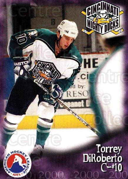 1999-00 Cincinnati Mighty Ducks #27 Torrey DiRoberto<br/>1 In Stock - $3.00 each - <a href=https://centericecollectibles.foxycart.com/cart?name=1999-00%20Cincinnati%20Mighty%20Ducks%20%2327%20Torrey%20DiRobert...&quantity_max=1&price=$3.00&code=696455 class=foxycart> Buy it now! </a>