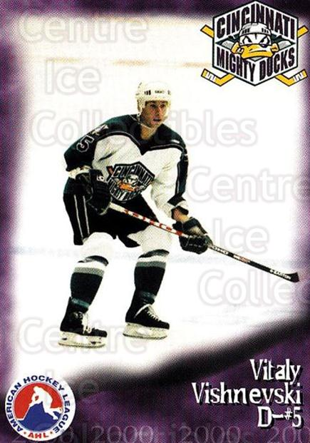 1999-00 Cincinnati Mighty Ducks #30 Vitaly Vishnevsky<br/>1 In Stock - $3.00 each - <a href=https://centericecollectibles.foxycart.com/cart?name=1999-00%20Cincinnati%20Mighty%20Ducks%20%2330%20Vitaly%20Vishnevs...&quantity_max=1&price=$3.00&code=696458 class=foxycart> Buy it now! </a>