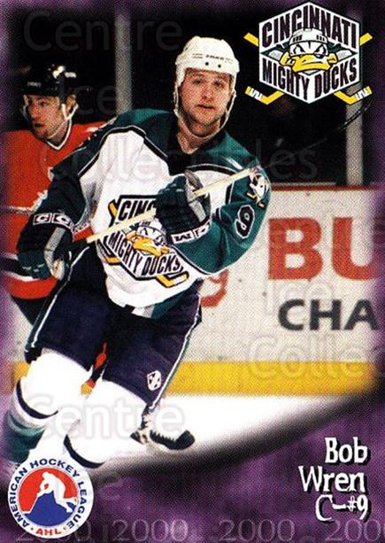 1999-00 Cincinnati Mighty Ducks #31 Bob Wren<br/>1 In Stock - $3.00 each - <a href=https://centericecollectibles.foxycart.com/cart?name=1999-00%20Cincinnati%20Mighty%20Ducks%20%2331%20Bob%20Wren...&quantity_max=1&price=$3.00&code=696459 class=foxycart> Buy it now! </a>