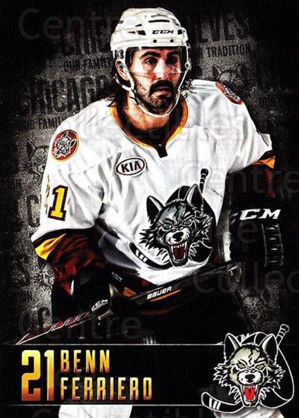 2014-15 Chicago Wolves #12 Benn Ferriero<br/>1 In Stock - $3.00 each - <a href=https://centericecollectibles.foxycart.com/cart?name=2014-15%20Chicago%20Wolves%20%2312%20Benn%20Ferriero...&quantity_max=1&price=$3.00&code=696497 class=foxycart> Buy it now! </a>