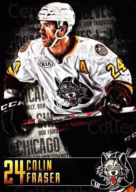 2014-15 Chicago Wolves #13 Colin Fraser<br/>1 In Stock - $3.00 each - <a href=https://centericecollectibles.foxycart.com/cart?name=2014-15%20Chicago%20Wolves%20%2313%20Colin%20Fraser...&price=$3.00&code=696498 class=foxycart> Buy it now! </a>