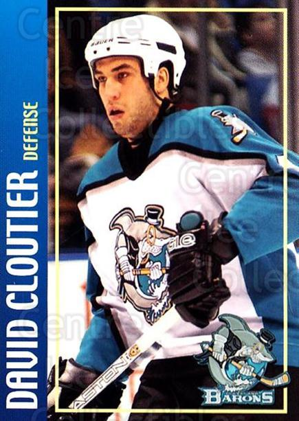 2002-03 Cleveland Barons #2 David Cloutier<br/>2 In Stock - $3.00 each - <a href=https://centericecollectibles.foxycart.com/cart?name=2002-03%20Cleveland%20Barons%20%232%20David%20Cloutier...&price=$3.00&code=696517 class=foxycart> Buy it now! </a>