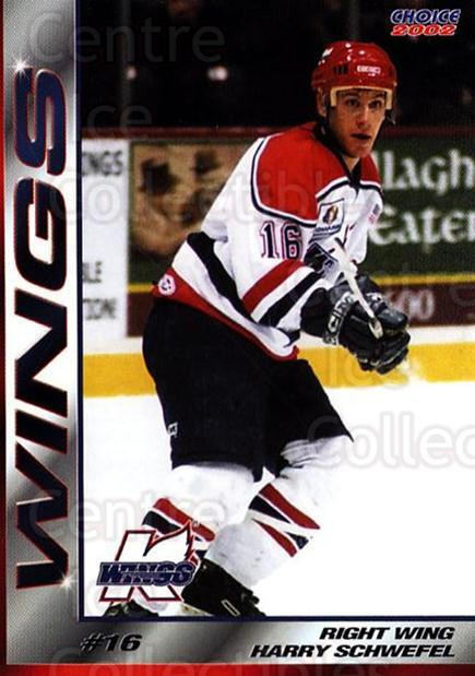2001-02 Kalamazoo Wings #10 Harry Schwefel<br/>1 In Stock - $3.00 each - <a href=https://centericecollectibles.foxycart.com/cart?name=2001-02%20Kalamazoo%20Wings%20%2310%20Harry%20Schwefel...&quantity_max=1&price=$3.00&code=696549 class=foxycart> Buy it now! </a>