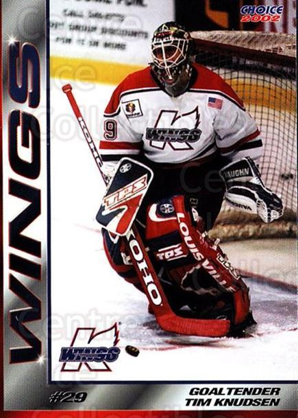 2001-02 Kalamazoo Wings #17 Tim Knudsen<br/>1 In Stock - $3.00 each - <a href=https://centericecollectibles.foxycart.com/cart?name=2001-02%20Kalamazoo%20Wings%20%2317%20Tim%20Knudsen...&quantity_max=1&price=$3.00&code=696556 class=foxycart> Buy it now! </a>
