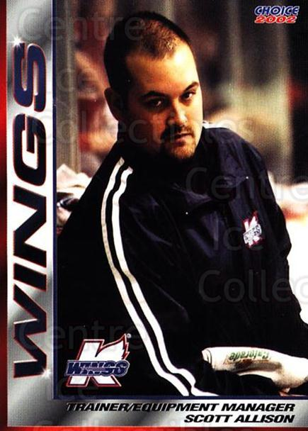 2001-02 Kalamazoo Wings #23 Scott Allison<br/>1 In Stock - $3.00 each - <a href=https://centericecollectibles.foxycart.com/cart?name=2001-02%20Kalamazoo%20Wings%20%2323%20Scott%20Allison...&quantity_max=1&price=$3.00&code=696562 class=foxycart> Buy it now! </a>