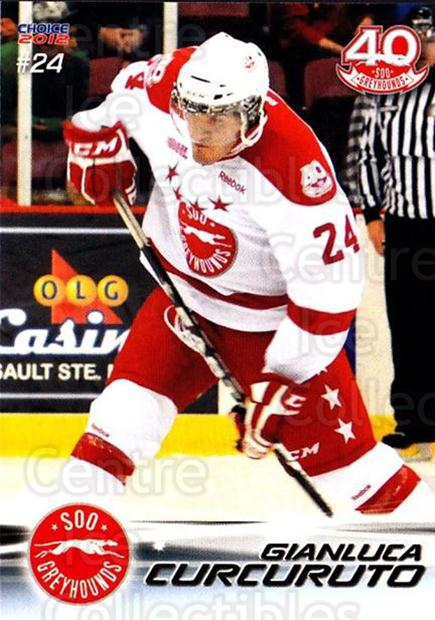 2011-12 Sault Ste. Marie Greyhounds #21 Gianluca Curcuruto<br/>1 In Stock - $3.00 each - <a href=https://centericecollectibles.foxycart.com/cart?name=2011-12%20Sault%20Ste.%20Marie%20Greyhounds%20%2321%20Gianluca%20Curcur...&quantity_max=1&price=$3.00&code=696612 class=foxycart> Buy it now! </a>