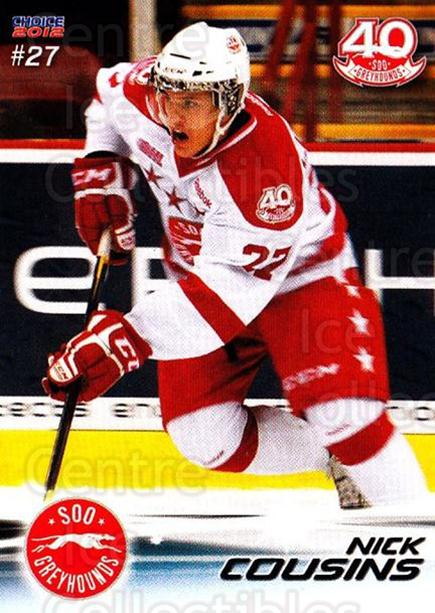 2011-12 Sault Ste. Marie Greyhounds #24 Nick Cousins<br/>1 In Stock - $3.00 each - <a href=https://centericecollectibles.foxycart.com/cart?name=2011-12%20Sault%20Ste.%20Marie%20Greyhounds%20%2324%20Nick%20Cousins...&quantity_max=1&price=$3.00&code=696615 class=foxycart> Buy it now! </a>