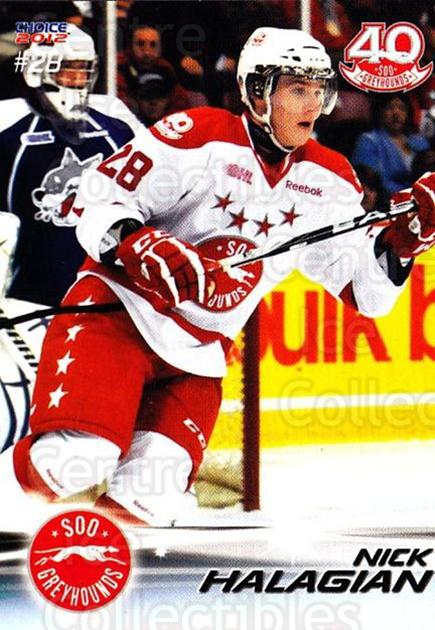 2011-12 Sault Ste. Marie Greyhounds #25 Nick Halagian<br/>1 In Stock - $3.00 each - <a href=https://centericecollectibles.foxycart.com/cart?name=2011-12%20Sault%20Ste.%20Marie%20Greyhounds%20%2325%20Nick%20Halagian...&quantity_max=1&price=$3.00&code=696616 class=foxycart> Buy it now! </a>