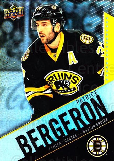 2015-16 Tim Hortons #37 Patrice Bergeron<br/>16 In Stock - $2.00 each - <a href=https://centericecollectibles.foxycart.com/cart?name=2015-16%20Tim%20Hortons%20%2337%20Patrice%20Bergero...&quantity_max=16&price=$2.00&code=696725 class=foxycart> Buy it now! </a>