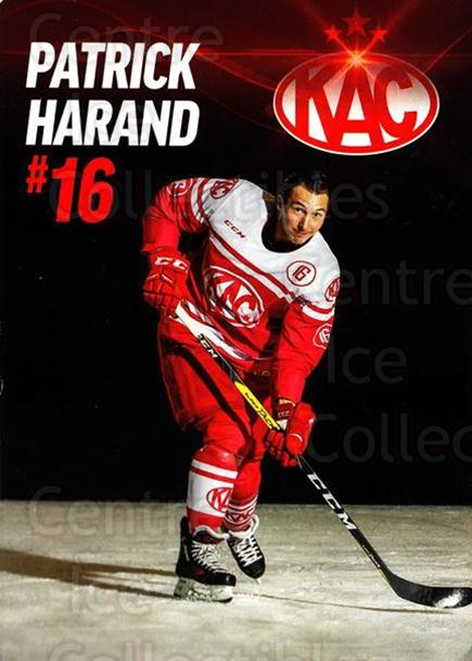 2016-17 EBEL EC Kac Postcards #26 Patrick Harand<br/>3 In Stock - $3.00 each - <a href=https://centericecollectibles.foxycart.com/cart?name=2016-17%20EBEL%20EC%20Kac%20Postcards%20%2326%20Patrick%20Harand...&quantity_max=3&price=$3.00&code=697106 class=foxycart> Buy it now! </a>