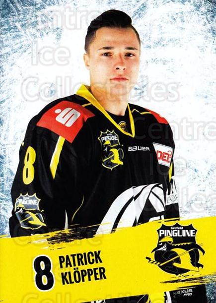 2016-17 German Krefeld Penguins Postcards #2 Patrick Klopper<br/>3 In Stock - $3.00 each - <a href=https://centericecollectibles.foxycart.com/cart?name=2016-17%20German%20Krefeld%20Penguins%20Postcards%20%232%20Patrick%20Klopper...&quantity_max=3&price=$3.00&code=697161 class=foxycart> Buy it now! </a>