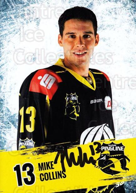 2016-17 German Krefeld Penguins Postcards #4 Mike Collins<br/>3 In Stock - $3.00 each - <a href=https://centericecollectibles.foxycart.com/cart?name=2016-17%20German%20Krefeld%20Penguins%20Postcards%20%234%20Mike%20Collins...&quantity_max=3&price=$3.00&code=697163 class=foxycart> Buy it now! </a>