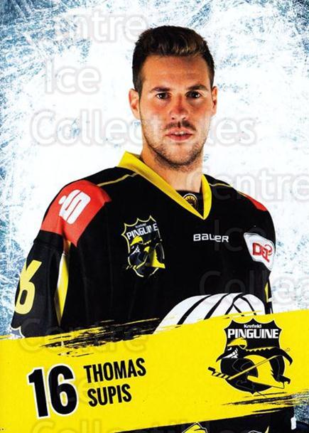 2016-17 German Krefeld Penguins Postcards #6 Thomas Supis<br/>3 In Stock - $3.00 each - <a href=https://centericecollectibles.foxycart.com/cart?name=2016-17%20German%20Krefeld%20Penguins%20Postcards%20%236%20Thomas%20Supis...&quantity_max=3&price=$3.00&code=697165 class=foxycart> Buy it now! </a>