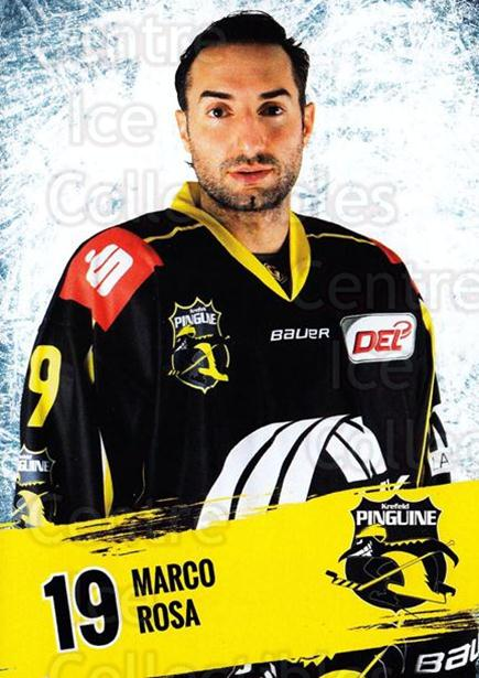 2016-17 German Krefeld Penguins Postcards #7 Marco Rosa<br/>1 In Stock - $3.00 each - <a href=https://centericecollectibles.foxycart.com/cart?name=2016-17%20German%20Krefeld%20Penguins%20Postcards%20%237%20Marco%20Rosa...&quantity_max=1&price=$3.00&code=697166 class=foxycart> Buy it now! </a>