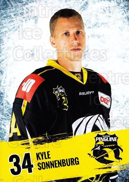 2016-17 German Krefeld Penguins Postcards #12 Kyle Sonnenburg<br/>3 In Stock - $3.00 each - <a href=https://centericecollectibles.foxycart.com/cart?name=2016-17%20German%20Krefeld%20Penguins%20Postcards%20%2312%20Kyle%20Sonnenburg...&quantity_max=3&price=$3.00&code=697171 class=foxycart> Buy it now! </a>