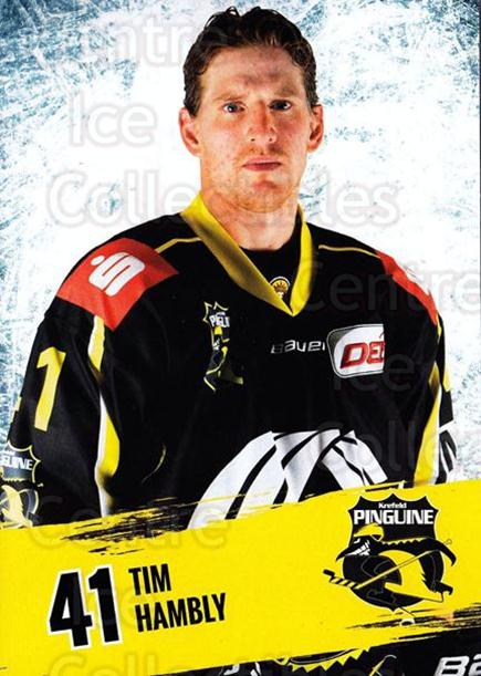 2016-17 German Krefeld Penguins Postcards #13 Tim Hambly<br/>3 In Stock - $3.00 each - <a href=https://centericecollectibles.foxycart.com/cart?name=2016-17%20German%20Krefeld%20Penguins%20Postcards%20%2313%20Tim%20Hambly...&quantity_max=3&price=$3.00&code=697172 class=foxycart> Buy it now! </a>
