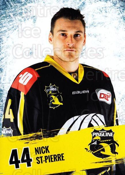 2016-17 German Krefeld Penguins Postcards #15 Nick St-Pierre<br/>3 In Stock - $3.00 each - <a href=https://centericecollectibles.foxycart.com/cart?name=2016-17%20German%20Krefeld%20Penguins%20Postcards%20%2315%20Nick%20St-Pierre...&quantity_max=3&price=$3.00&code=697174 class=foxycart> Buy it now! </a>