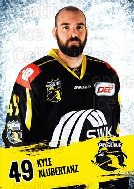 2016-17 German Krefeld Penguins Postcards #16 Kyle Klubertanz<br/>1 In Stock - $3.00 each - <a href=https://centericecollectibles.foxycart.com/cart?name=2016-17%20German%20Krefeld%20Penguins%20Postcards%20%2316%20Kyle%20Klubertanz...&quantity_max=1&price=$3.00&code=697175 class=foxycart> Buy it now! </a>
