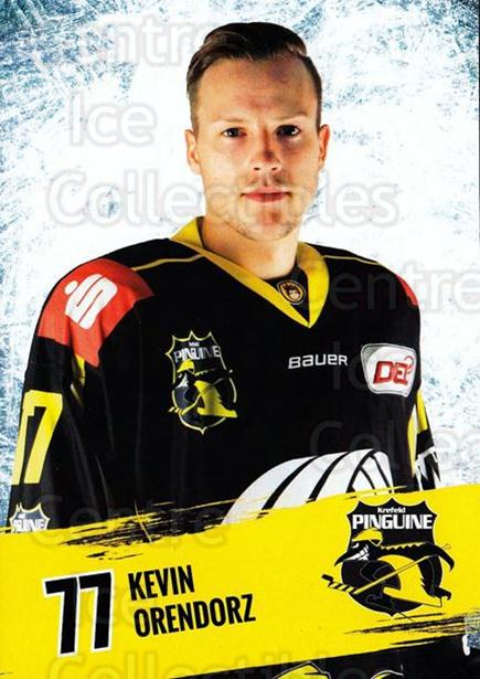 2016-17 German Krefeld Penguins Postcards #21 Kevin Orendorz<br/>3 In Stock - $3.00 each - <a href=https://centericecollectibles.foxycart.com/cart?name=2016-17%20German%20Krefeld%20Penguins%20Postcards%20%2321%20Kevin%20Orendorz...&quantity_max=3&price=$3.00&code=697180 class=foxycart> Buy it now! </a>