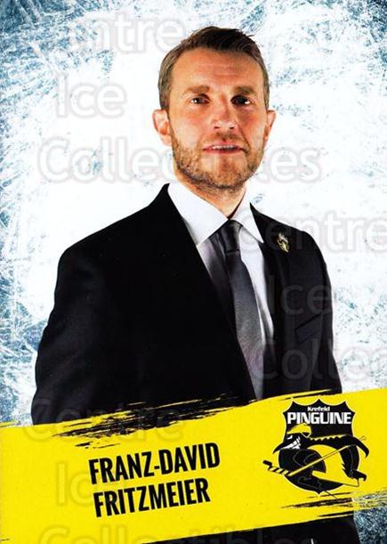 2016-17 German Krefeld Penguins Postcards #29 Franz-David Fritzmeier<br/>2 In Stock - $3.00 each - <a href=https://centericecollectibles.foxycart.com/cart?name=2016-17%20German%20Krefeld%20Penguins%20Postcards%20%2329%20Franz-David%20Fri...&quantity_max=2&price=$3.00&code=697188 class=foxycart> Buy it now! </a>