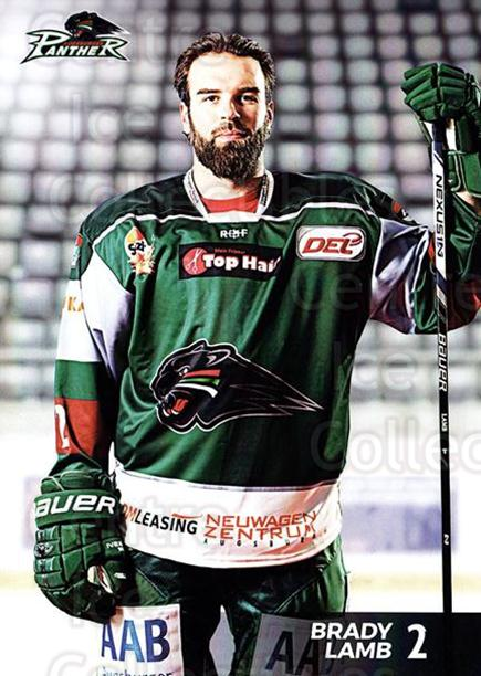 2016-17 German Augsburg Panthers Postcards #1 Brady Lamb<br/>3 In Stock - $3.00 each - <a href=https://centericecollectibles.foxycart.com/cart?name=2016-17%20German%20Augsburg%20Panthers%20Postcards%20%231%20Brady%20Lamb...&quantity_max=3&price=$3.00&code=697193 class=foxycart> Buy it now! </a>