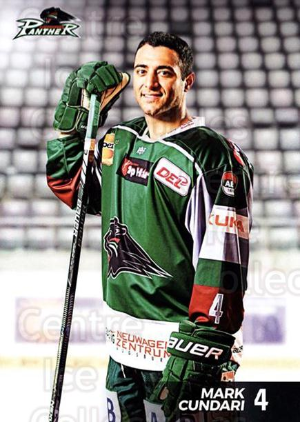 2016-17 German Augsburg Panthers Postcards #2 Mark Cundari<br/>2 In Stock - $3.00 each - <a href=https://centericecollectibles.foxycart.com/cart?name=2016-17%20German%20Augsburg%20Panthers%20Postcards%20%232%20Mark%20Cundari...&quantity_max=2&price=$3.00&code=697194 class=foxycart> Buy it now! </a>