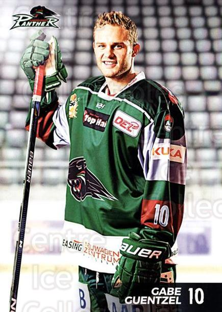2016-17 German Augsburg Panthers Postcards #3 Gabe Guentzel<br/>3 In Stock - $3.00 each - <a href=https://centericecollectibles.foxycart.com/cart?name=2016-17%20German%20Augsburg%20Panthers%20Postcards%20%233%20Gabe%20Guentzel...&quantity_max=3&price=$3.00&code=697195 class=foxycart> Buy it now! </a>