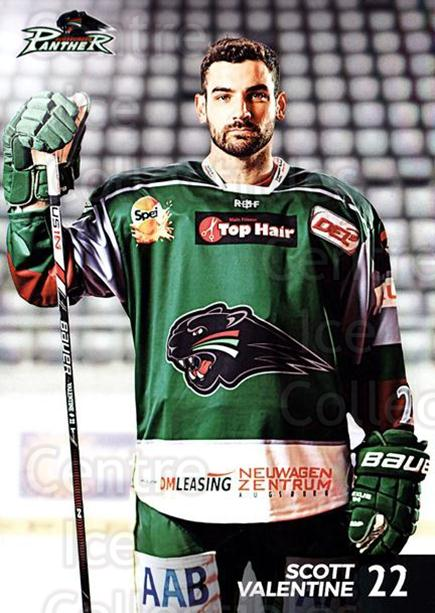 2016-17 German Augsburg Panthers Postcards #5 Scott Valentine<br/>3 In Stock - $3.00 each - <a href=https://centericecollectibles.foxycart.com/cart?name=2016-17%20German%20Augsburg%20Panthers%20Postcards%20%235%20Scott%20Valentine...&quantity_max=3&price=$3.00&code=697197 class=foxycart> Buy it now! </a>