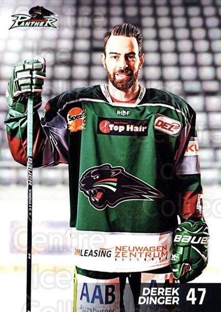 2016-17 German Augsburg Panthers Postcards #7 Derek Dinger<br/>3 In Stock - $3.00 each - <a href=https://centericecollectibles.foxycart.com/cart?name=2016-17%20German%20Augsburg%20Panthers%20Postcards%20%237%20Derek%20Dinger...&quantity_max=3&price=$3.00&code=697199 class=foxycart> Buy it now! </a>