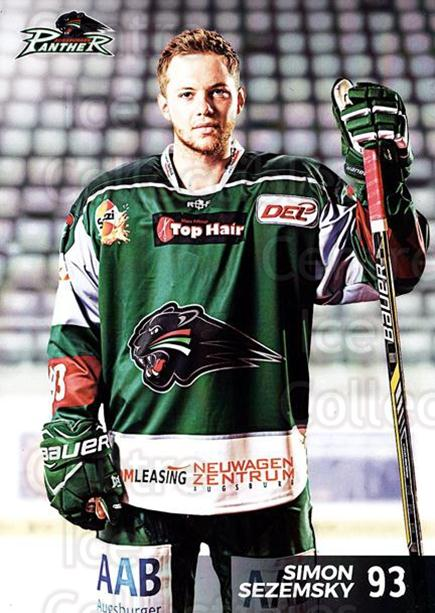2016-17 German Augsburg Panthers Postcards #8 Simon Sezemsky<br/>3 In Stock - $3.00 each - <a href=https://centericecollectibles.foxycart.com/cart?name=2016-17%20German%20Augsburg%20Panthers%20Postcards%20%238%20Simon%20Sezemsky...&quantity_max=3&price=$3.00&code=697200 class=foxycart> Buy it now! </a>