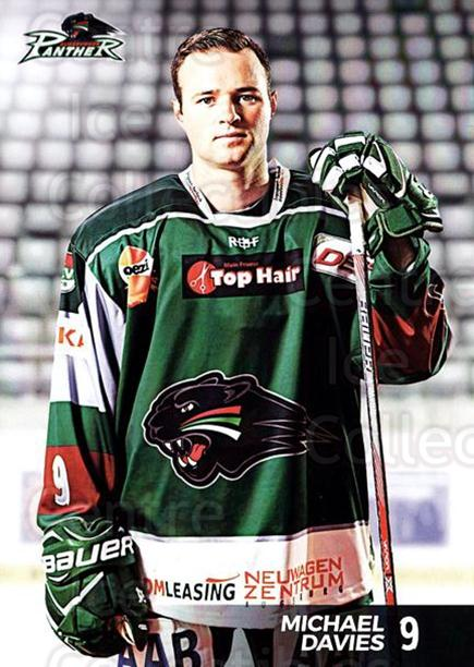 2016-17 German Augsburg Panthers Postcards #9 Michael Davies<br/>1 In Stock - $3.00 each - <a href=https://centericecollectibles.foxycart.com/cart?name=2016-17%20German%20Augsburg%20Panthers%20Postcards%20%239%20Michael%20Davies...&quantity_max=1&price=$3.00&code=697201 class=foxycart> Buy it now! </a>