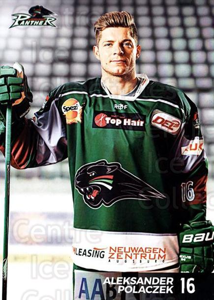 2016-17 German Augsburg Panthers Postcards #11 Aleksander Polaczek<br/>2 In Stock - $3.00 each - <a href=https://centericecollectibles.foxycart.com/cart?name=2016-17%20German%20Augsburg%20Panthers%20Postcards%20%2311%20Aleksander%20Pola...&quantity_max=2&price=$3.00&code=697203 class=foxycart> Buy it now! </a>